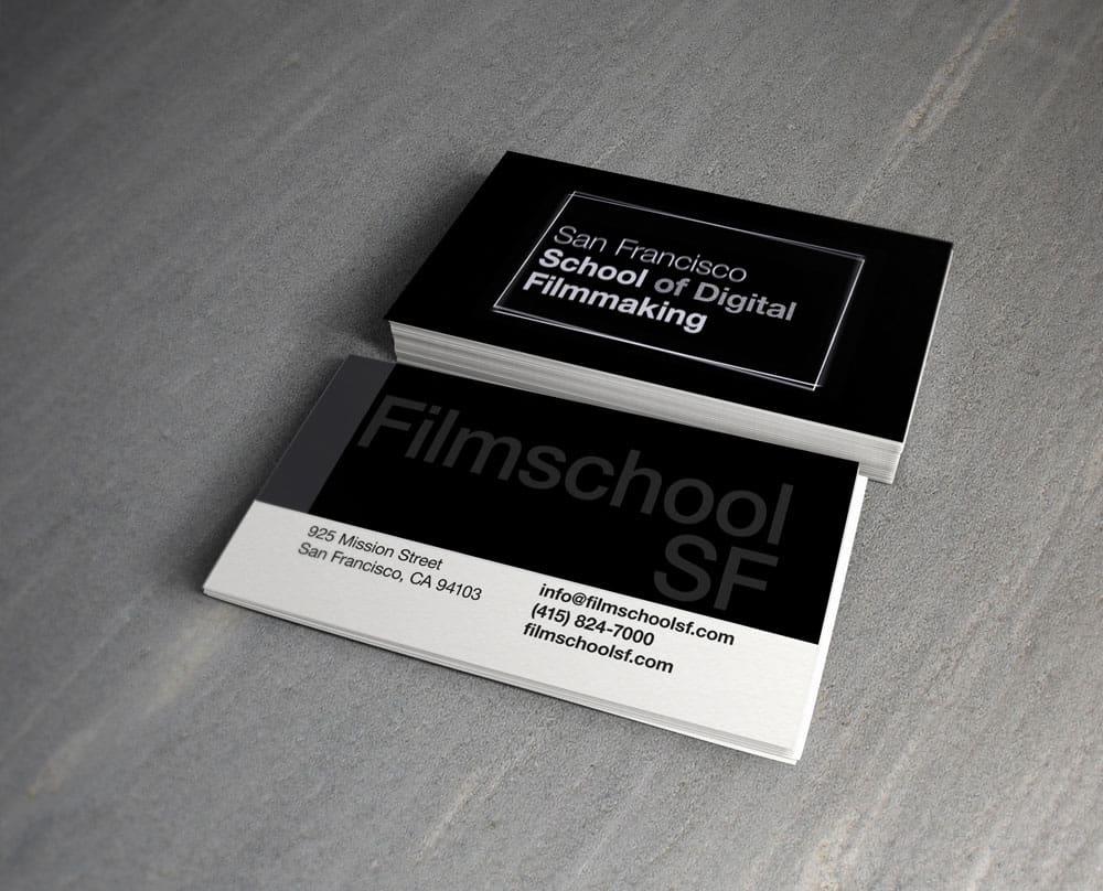 San Francisco School of Digital Filmmaking Business Cards
